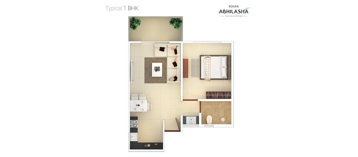 Rohan Abhilasha, Wagholi, Pune   1, 2, 3 BHK Flats for Sale